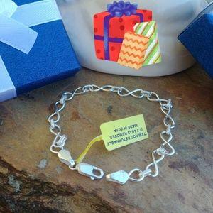 Jewelry - Sterling silver Infinity Link bracelet